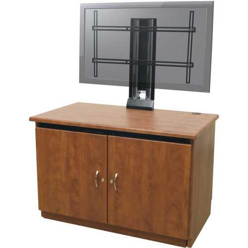 Middle Atlantic Contemporary Finishing Kit with Monitor Mount (Light Walnut Finish)