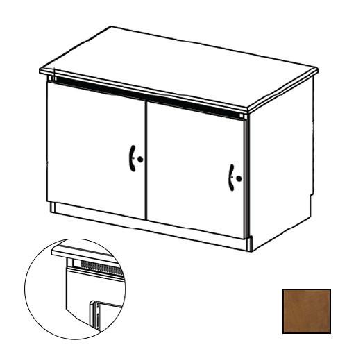 Middle Atlantic Credenza Rack Finishing Kit (Traditional, 2 Bay, Smoked Plexiglass Doors)