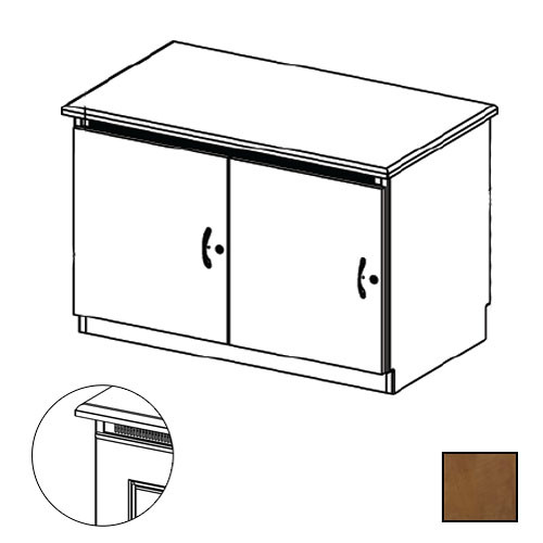 Middle Atlantic Credenza Rack Finishing Kit (Traditional, 2 Bay, Solid Doors)