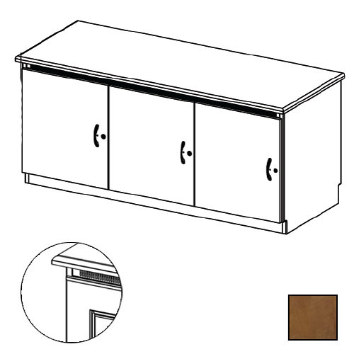 Middle Atlantic Credenza Rack Finishing Kit (Traditional, 3 Bay, Solid Doors)