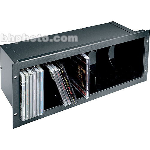 Middle Atlantic CD - Front Loading 40-CD Holder  (Black Brush)
