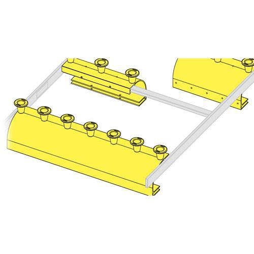 """Middle Atlantic CLH-ED23 Cable Ladder End Drop (23"""", 7 Spools)"""