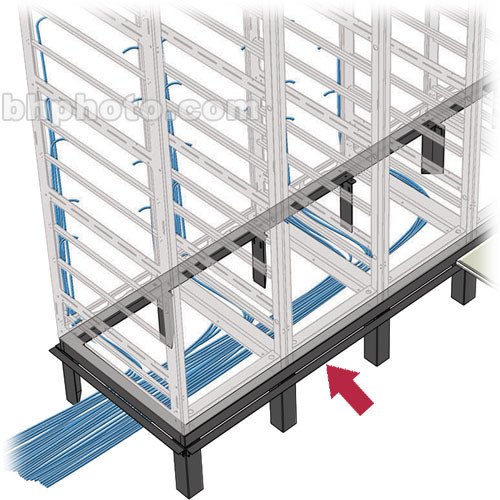 Middle Atlantic 2-Bay Raised Floor Support Angle (Black)