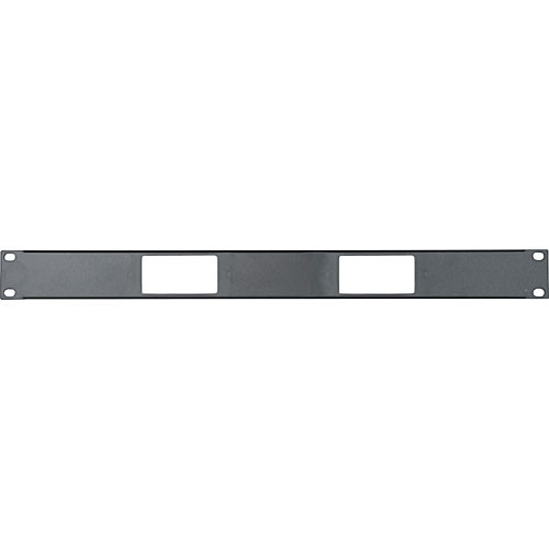 Middle Atlantic DECP-1x2 Decora 1U Panel for (2) Decora Device