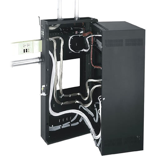 Middle Atlantic DWR-12-22PD Sectional Wall Mount Rack with Plexiglass Front Door