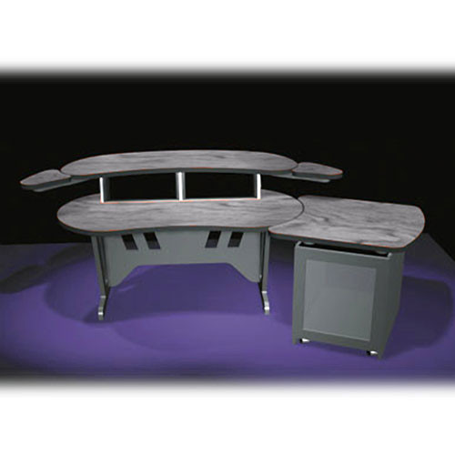 "Middle Atlantic ELUR+S12D-PS 84"" Edit Center Desk with Overbridge & 12 Space Rack (ELUR+S12D-PS)"