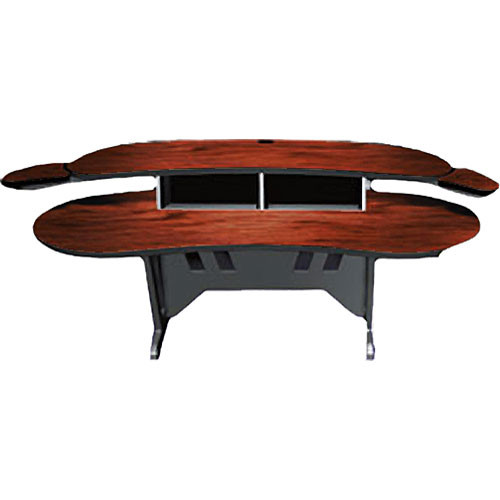 "Middle Atlantic ESUR-DC 60"" Edit Center Desk with Overbridge (Dark Cherry)"