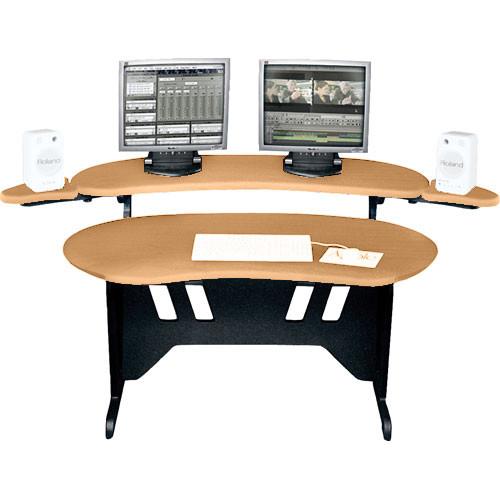 """Middle Atlantic ES-HM 60"""" Edit Center Desk with Overbridge (Honey Maple)"""