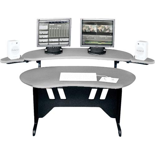 "Middle Atlantic ES-PS 60"" Edit Center Desk with Overbridge (Pepperstone)"
