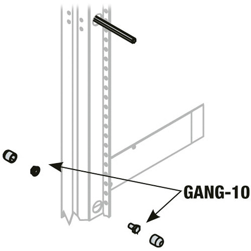 Middle Atlantic GANG-10T Bolts for Ganging BGR Racks