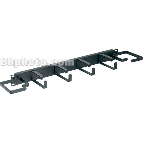Middle Atlantic HCM-1DV Horizontal Cable Manager: 1U D-Ring Style with End Rings