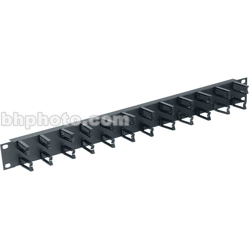 Middle Atlantic HCM-1 1-Space Horizontal Cable Manager, Micro-Clip Style