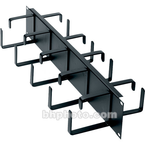 Middle Atlantic HCM-2DR 2-Space Horizontal Cable Manager, D-Ring Style, Front and Rear