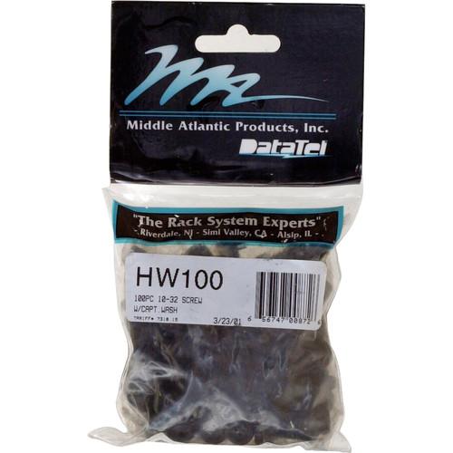 "Middle Atlantic HW100 10-32 3/4"" Philips Trim-Head Screws & Washers 100 Pieces"