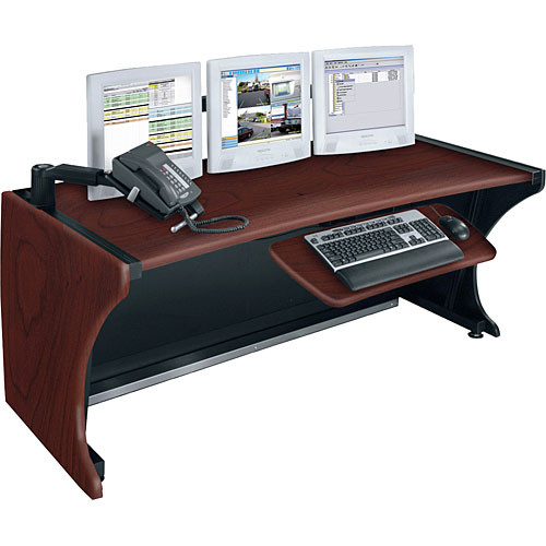 "Middle Atlantic 48"" LCD Monitoring & Command Desk (Dark Cherry)"