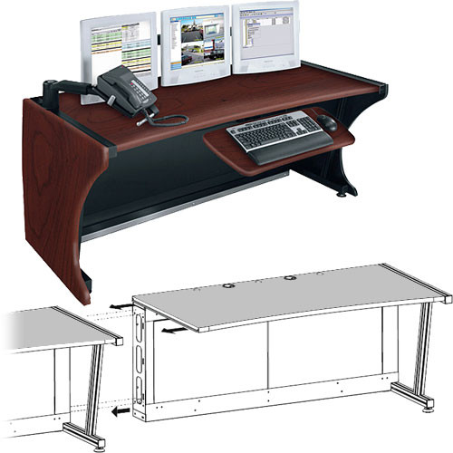"Middle Atlantic 48"" Add-A-Bay LCD Monitoring & Command Desk (Dark Cherry)"