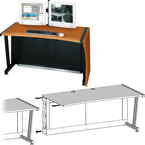 """Middle Atlantic 64"""" Add-A-Bay LCD Monitoring & Command Desk (Honey Maple)"""