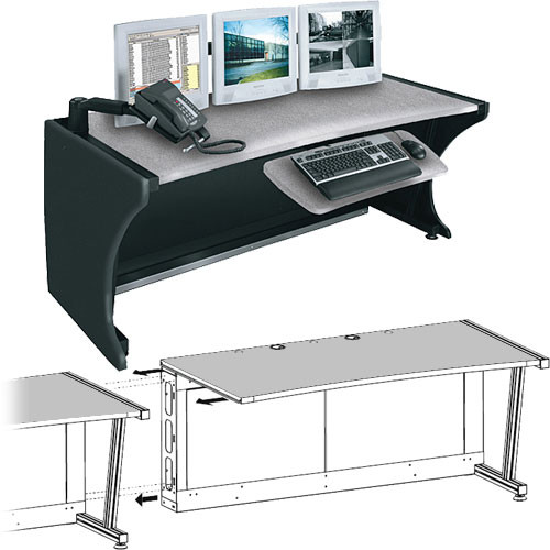 """Middle Atlantic 64"""" Add-A-Bay LCD Monitoring & Command Desk (Pepperstone)"""