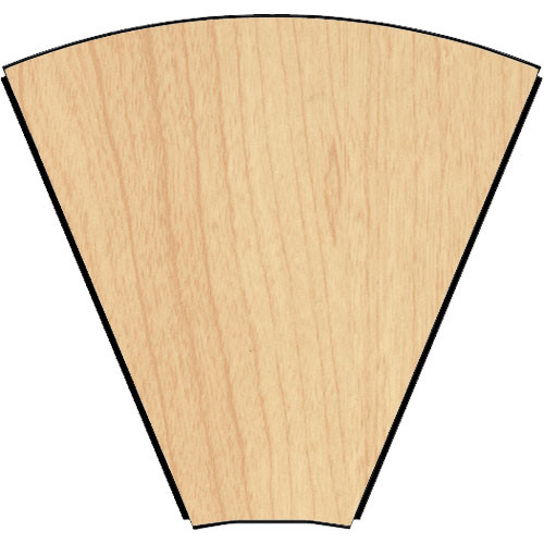 Middle Atlantic 45° Connecting Wedge for LD Series LCD Monitoring/Command Desk (Honey Maple)