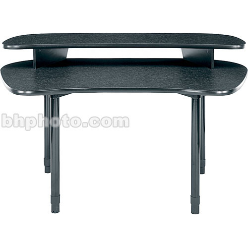 "Middle Atlantic 59""W Straight Desk w/Overbridge  MDV-DL (Graphite)"
