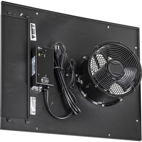 """Middle Atlantic MW10FTFC Fan Top with 10"""" Fan Mount with Fan Control for WRK/MRK/VRK/DRK Racks (Black)"""