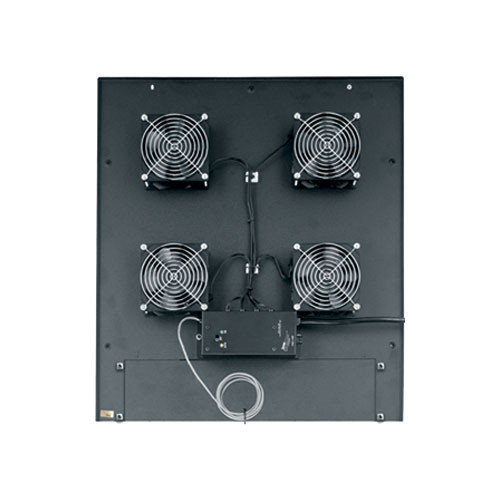 "Middle Atlantic MW-4QFT-FC 200 CFM Integrated Fan Top (4) 4-1/2"" Fans Controller"