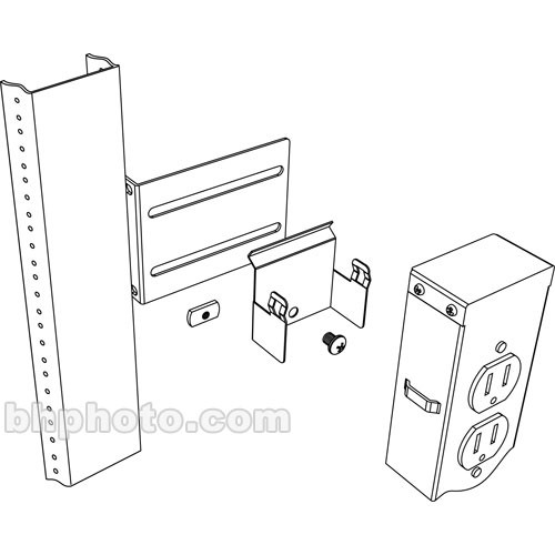 Middle Atlantic PB-5A Vertical Power Strip Brackets