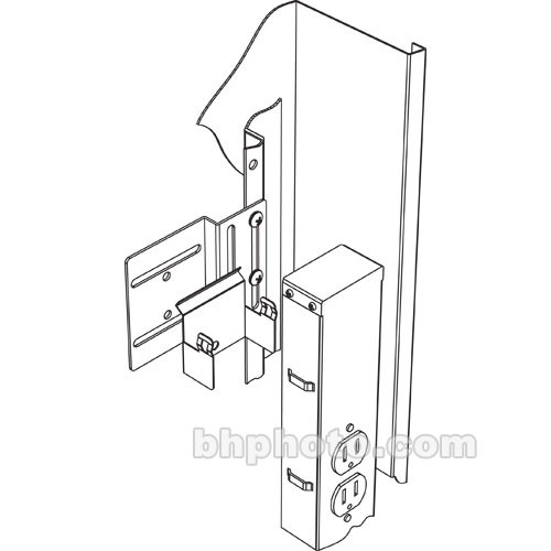 Middle Atlantic PB-DWR Vertical Power Strip Brackets for DWR/SR-40-22