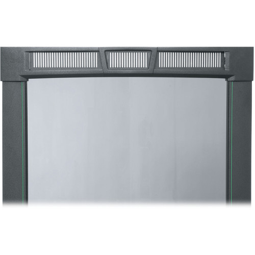 Middle Atlantic PFD-25A Curved Plexiglass Front Door (Black Finish)