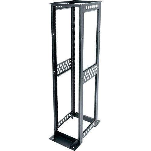 "Middle Atlantic R412-3824B R4 Series 24"" Deep 38U Four-Post Open-Frame Rack"