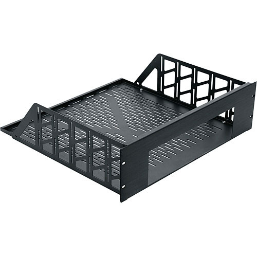 Middle Atlantic RSH4A10RW 10U Custom Rackmount Shelf (Black Brushed Anodized)