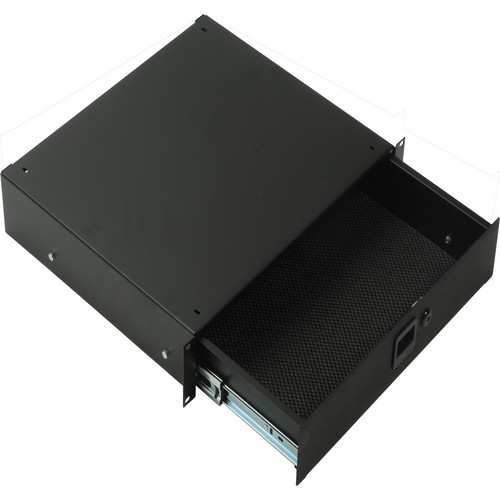 Middle Atlantic 3U Rack Drawer with Lock TD3LK (Black Texture)