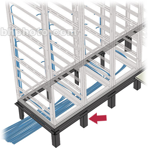 Middle Atlantic VFEET-1-12 1-Bay Riser Feet Set for Raised Floor Installation  (Black)