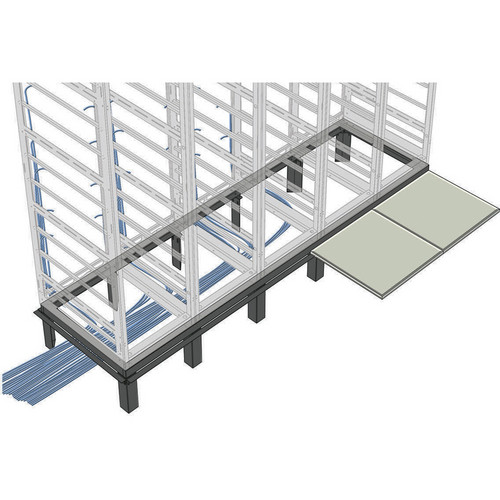 Middle Atlantic 1-Bay Raised Floor Support Angle