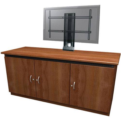 Middle Atlantic C5 Traditional Credenza Rack with Monitor Mount (Pepperstone Finish)