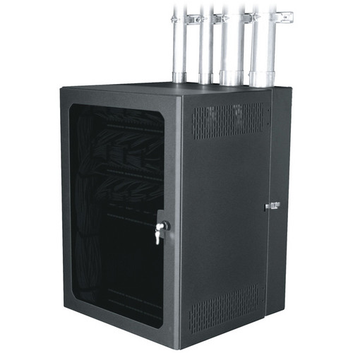 "Middle Atlantic CableSafe Cabling Wall Mount Rack with Plexi Door (15"" Useable Depth)"