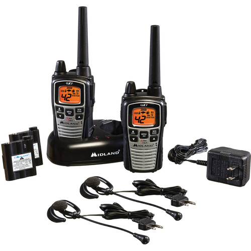 Midland GXT860VP4 42-Channel GMRS Radios with NOAA Weather Alert (Pair)