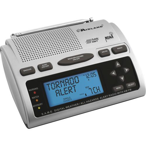 Midland WR-300 S.A.M.E. Weather / All Hazards Alert Monitor With AM/FM Radio