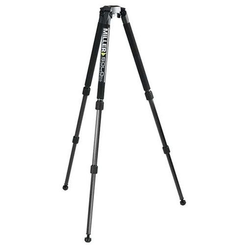 Miller Solo DV Aluminum Tripod with 75mm bowl- Supports up to 44 lb (20 kg)