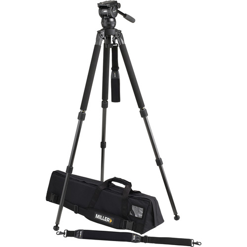 Miller Compass 12 Solo 75 Two-Stage Carbon Fiber Tripod System