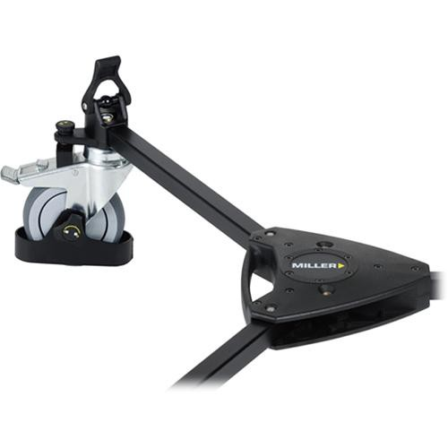 Miller 483 Studio Dolly with Cable Guards and Tracking Locks - for Sprinter and HD Tripods