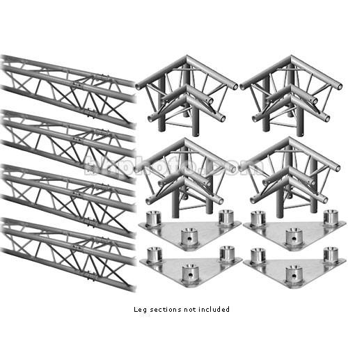 Milos M222 Trio QuickTruss Floor Kit - includes: 4 Truss Sections, Leg Corners, Base Plates - Requires Leg Kit - 10.8 x 10.8'