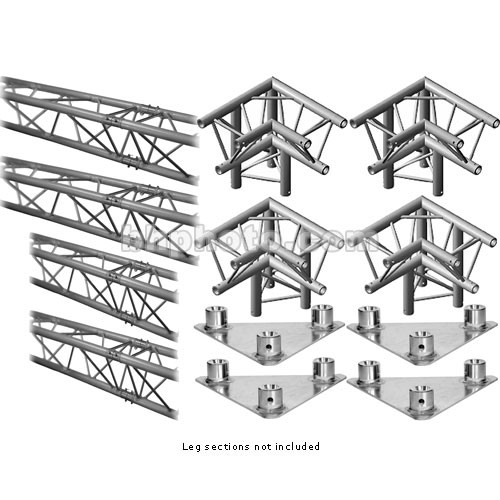 Milos M222 Trio QuickTruss Floor Kit - includes: 4 Truss Sections, Leg Corners, Base Plates - Requires Leg Kit - 7.5 x 10.8'