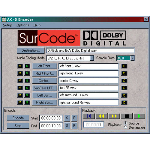 SurCode SurCode Surround Dolby Digital v2  - 5.1 Encoding Software