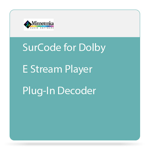 SurCode for Dolby E Stream Player Plug-In Decoder (Purchase)