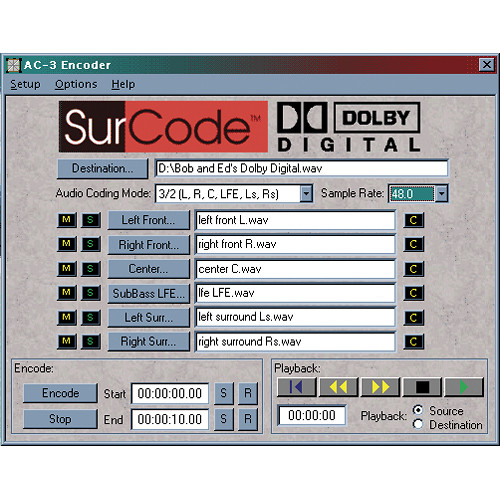 SurCode SurCode Surround Dolby Digital v2 - 5.1 Encoding Software (Upgrade)