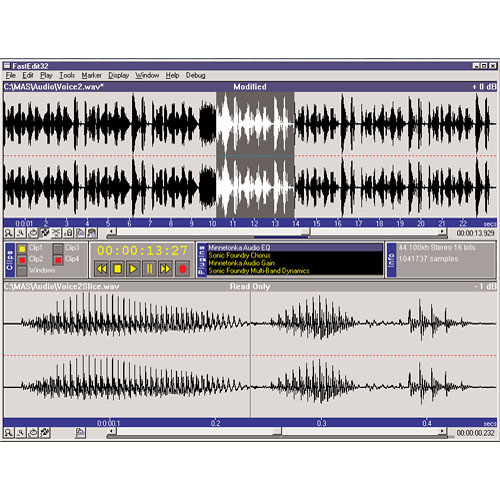 SurCode Fast Edit 4.1 - Audio Editor for Windows (Upgrade)