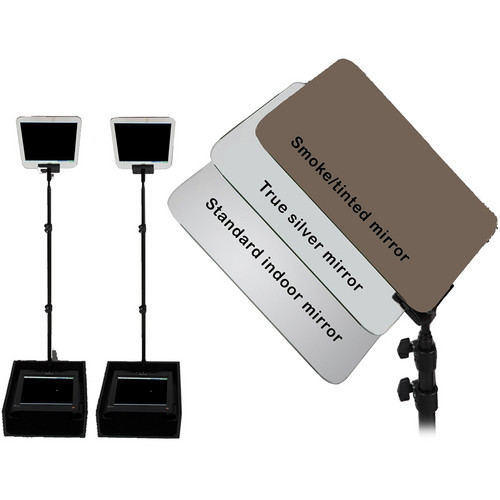 "Mirror Image Dual 15"" LCD Outdoor Speechprompter"