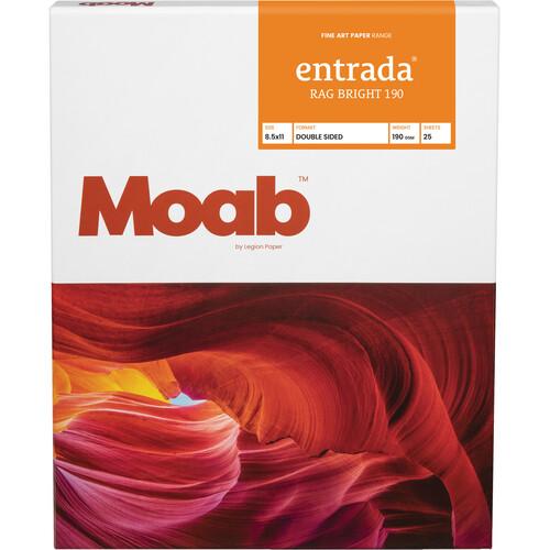 """Moab Entrada Rag Bright 190 (8.5 x 11"""", 25 Sheets)"""