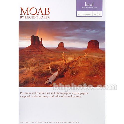 "Moab Lasal Photo Gloss Paper (270 gsm) - 13x19"" - 50 Sheets"